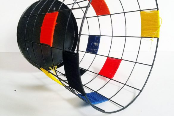 Mandy Does DIY: A Color-Blocked Wire Basket